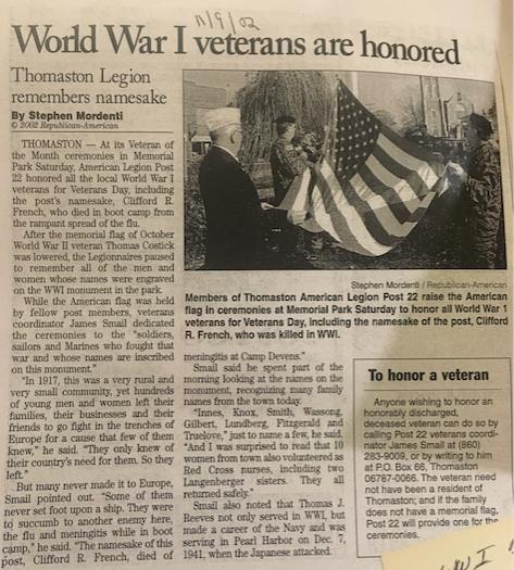 Thomaston WWI Veterans Remembered