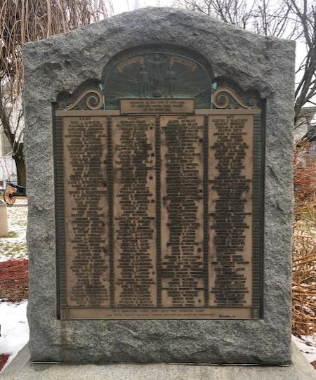 Thomaston's Roll of Honor WWI Memorial
