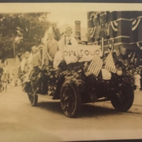 Girl Scouts in Thomaston WWI Welcome Home Parade