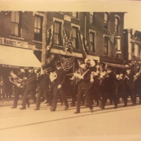 Thomaston WWI Welcome Home Parade in front of Wehrle's Market