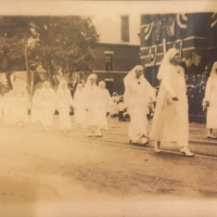 Nurses Marching in Thomaston's WWI Welcome Home Parade