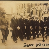 Sailors in Thomaston's WWI Welcome Home Parade