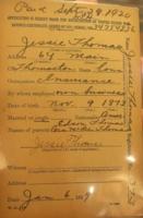 War Savings Certificate of Jessie Thomas
