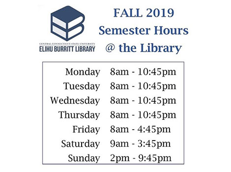 Library hours - Fall Semester