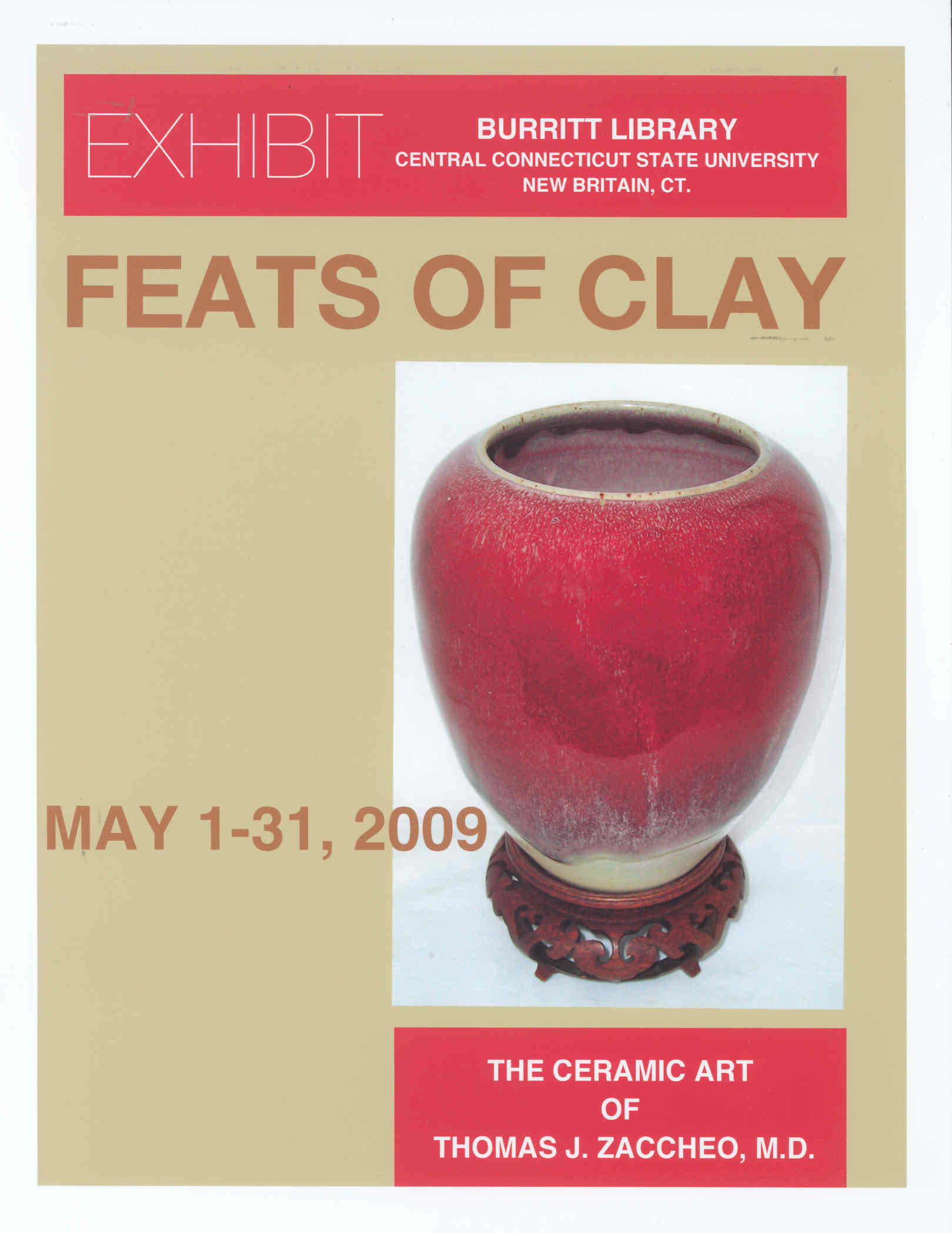 Feats of Clay Exhibit Flyer