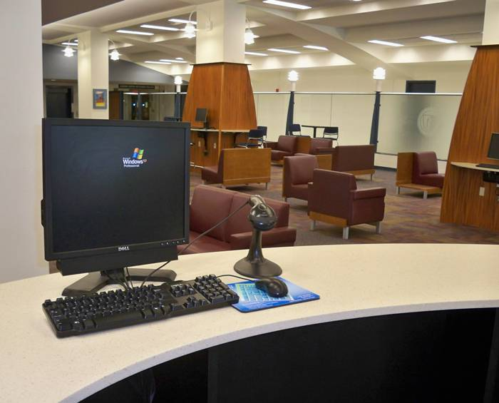 New Circulation Desk - Burritt Library