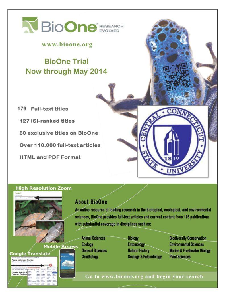 BioOne trail flyer CCSU