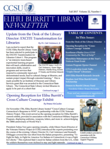 Fall 2017 Elihu Burritt Library Newsletter