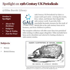 Spotlight on 19th Century UK Periodicals eresource