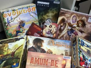 Photo of board games available at the library