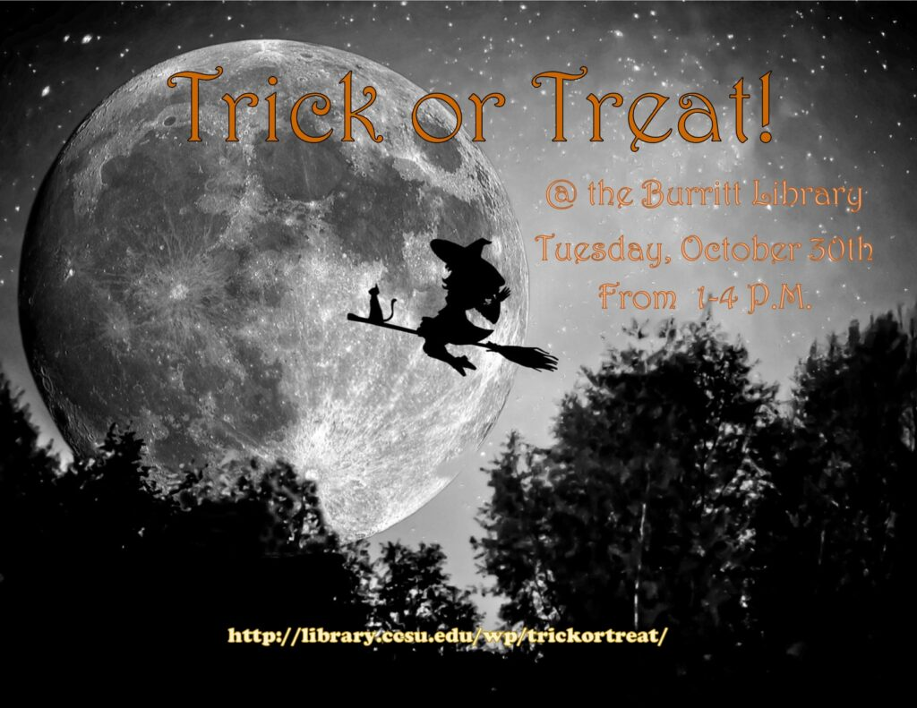Trick or Treat Eresources Fair post - Tues., Oct. 30, 2018