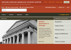 African-American Studies Center database