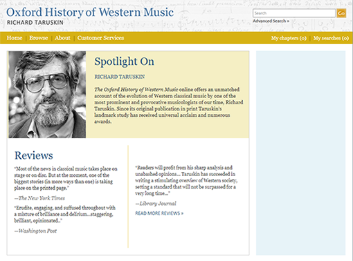 Oxford Music History Online database