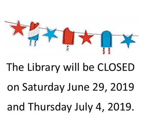 CCSU's library will be closed on Sat., 6/29/19 & Thurs., 7/4/19
