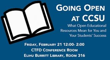 Lunch and Learn on Open Educational Resources (OER) - Friday, February 21, 2020